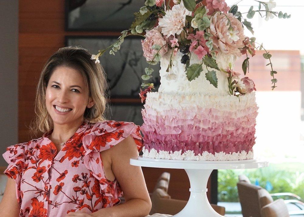 Julie Simon Julie Sheryl Floral Cake