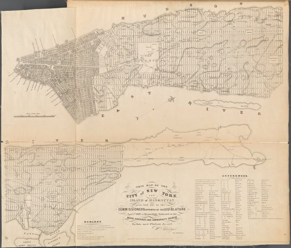 A Historic Map Of New York City
