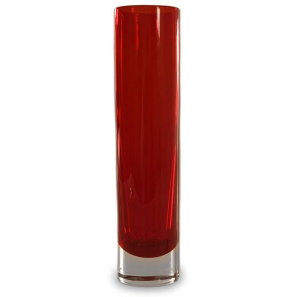 Seguso in Brazil hand-blown Crimson Column vase
