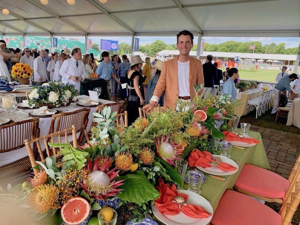 David Laks Table Setting Hampton Classic