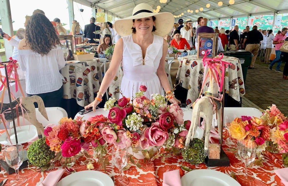 Artist Lisa Pevaroff Table Setting Hampton Classic