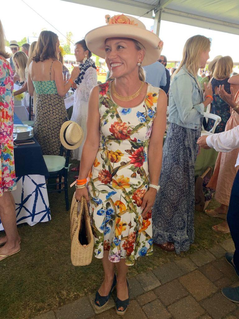 Hampton Classic Horse Show floral dress