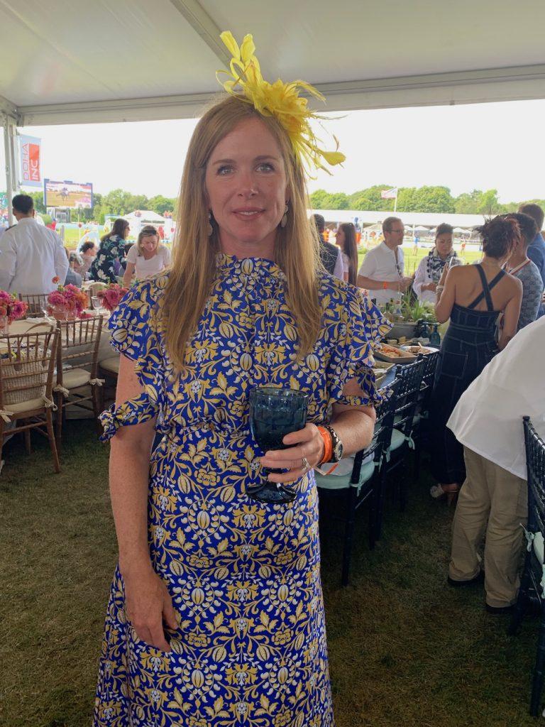 Yellow floral hat Hampton Classic Horse Show