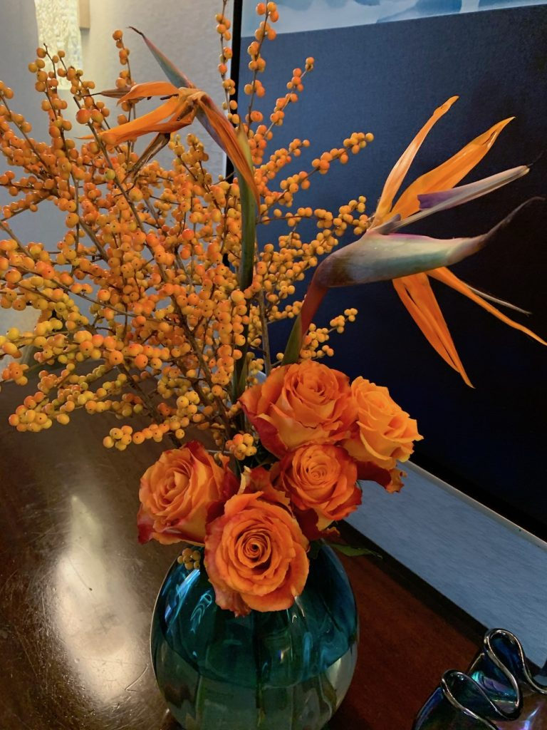 Downton Abbey Orange Flowers