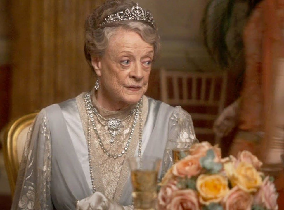Maggie Smith Downtown Abbey Ball
