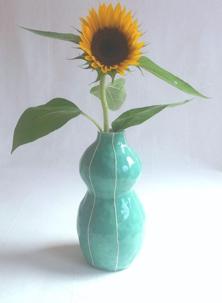 A kicky turquoise vase