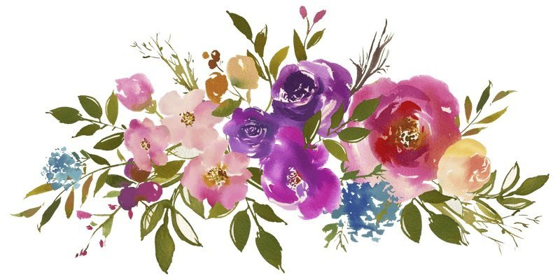 Painting flowers in watercolor