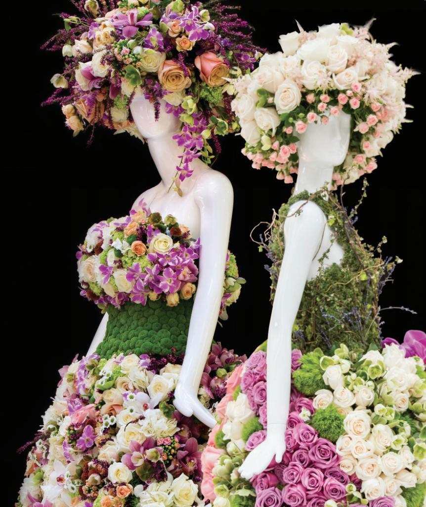 Fleurs de Villes Mannequins with floral hats