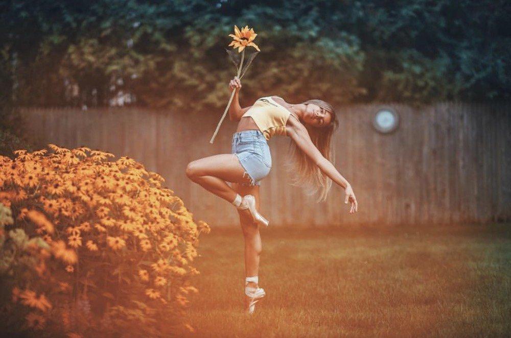 Ballet Dancer Isabella Fonte Holding Flower