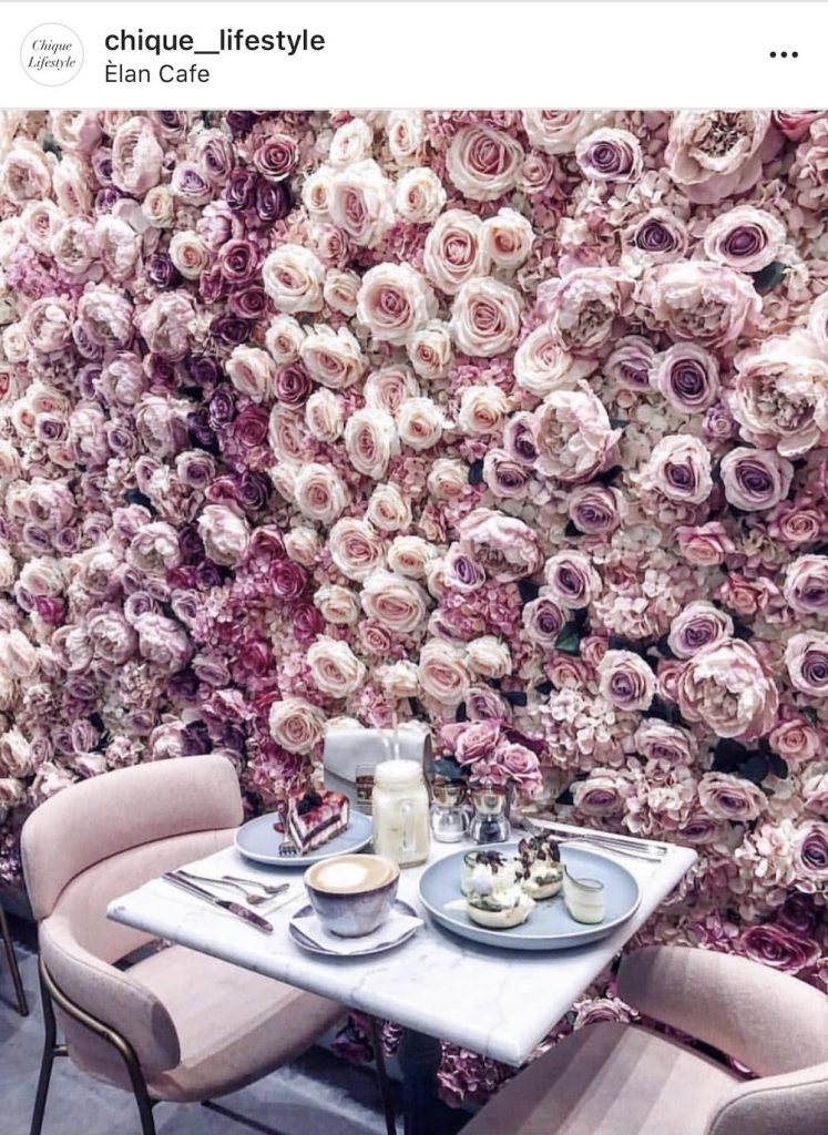 Amazing floral wall covering