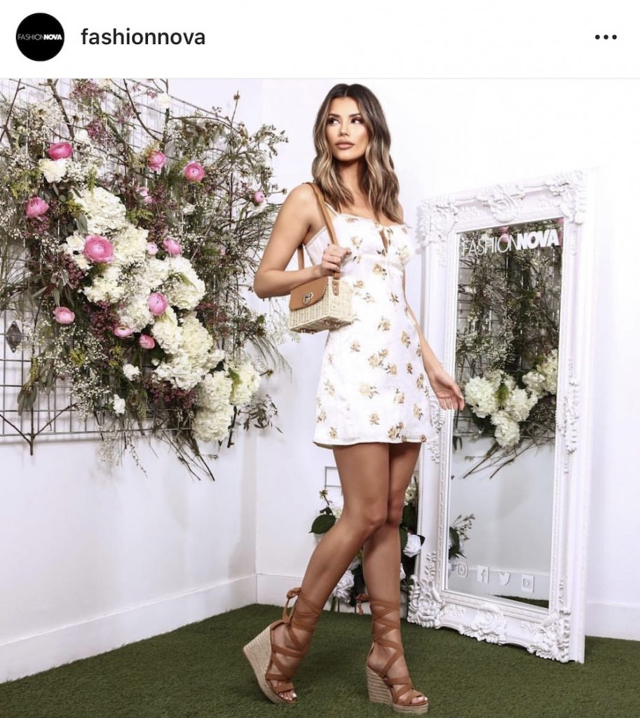 Isabella Fonte in floral dress