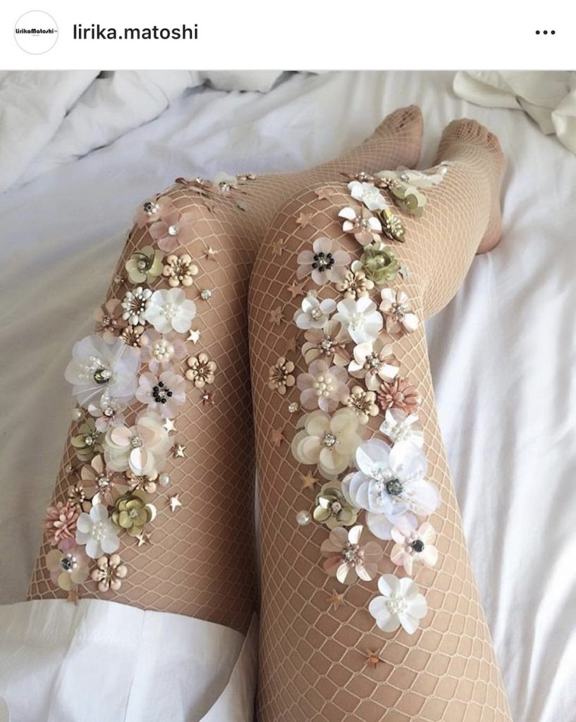 Woman's floral stockings
