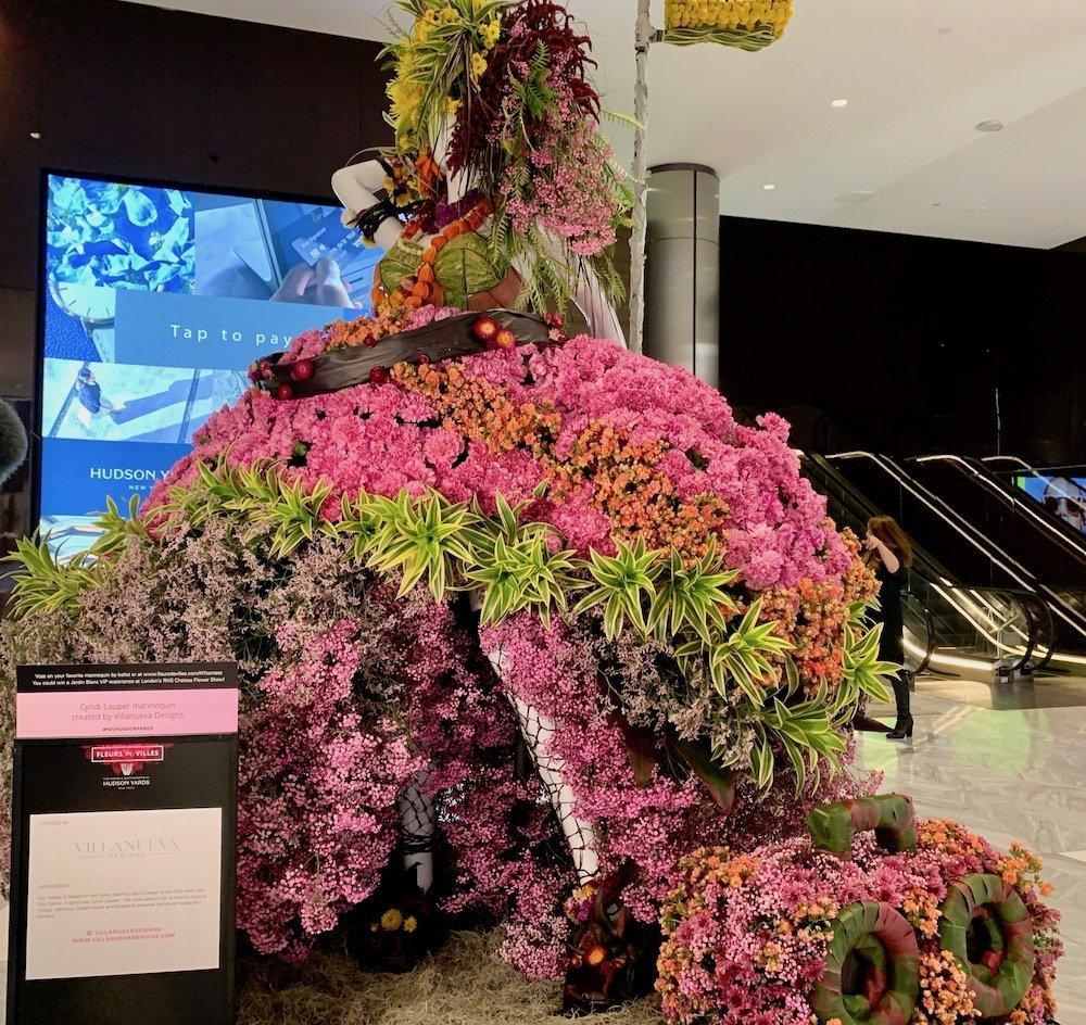 Cyndi Lauper floral dress by Villanueva Designs
