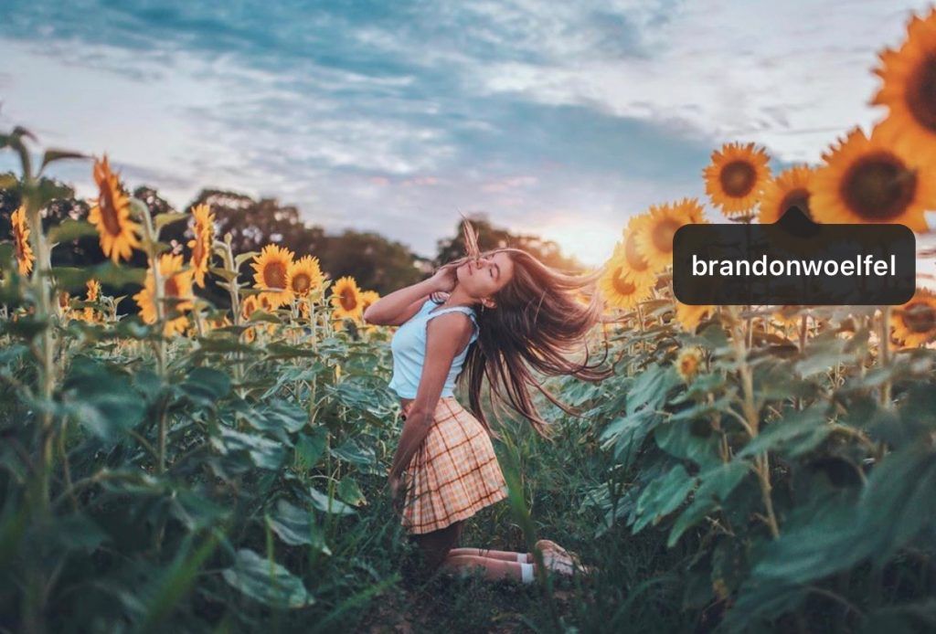 Ballet Dancer Isabella Fonte in Sunflower Field