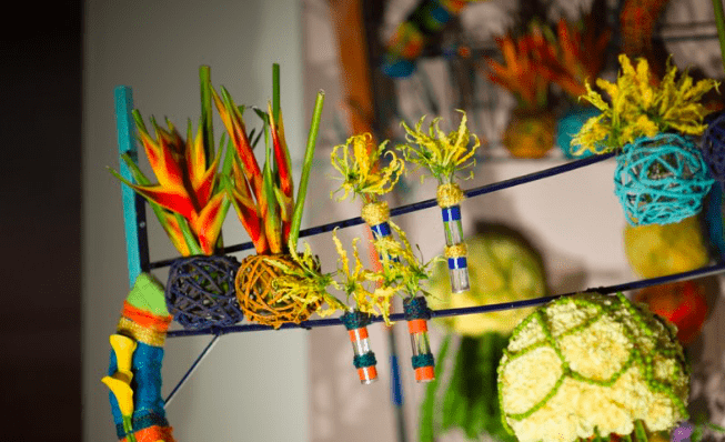 Birds of Paradise and other flowers
