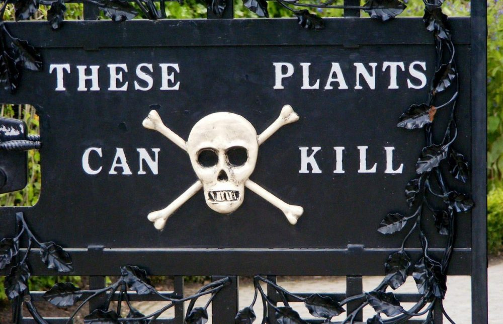 Poison Garden Warning signs of poisonous plants